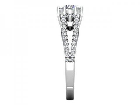 1 Carat round Diamond Engagement Ring - Dallas Texas - Custom Jewelry Store Dallas 2