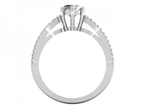 1 Carat round Diamond Engagement Ring - Dallas Texas - Custom Jewelry Store Dallas 3