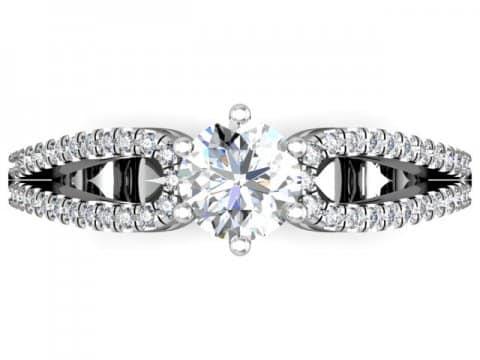1 Carat round Diamond Engagement Ring - Dallas Texas - Custom Jewelry Store Dallas 4