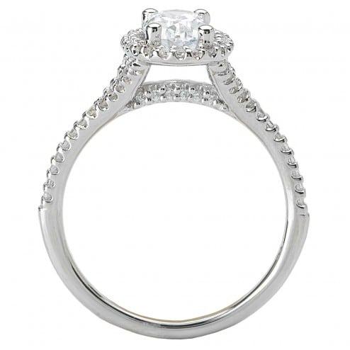 1 Carat Oval Halo Diamond Rings Dallas 2, Shira Diamonds