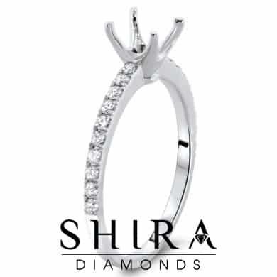 1.25ct Semi Mount Engagement Ring Dallas Semi Mount Rings 3, Shira Diamonds