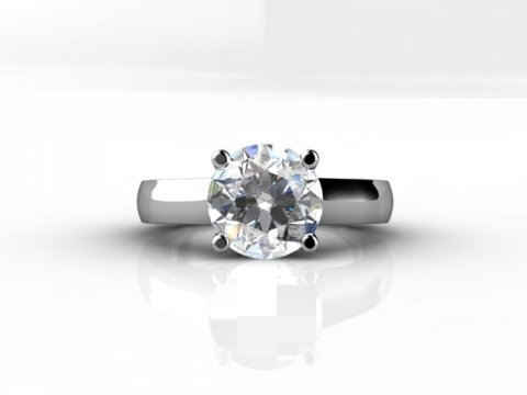 1.5 Carat Diamond Engagement Ring 4