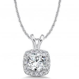 1_Carat_Halo_Diamond_Necklace_Dallas