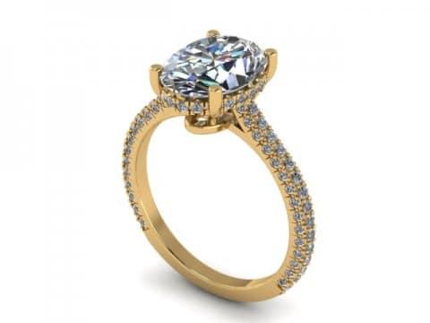 2 Carat Oval Engagement Ring - Custom Oval Engagement Rings Dallas - Shira Diamonds Dallas 1