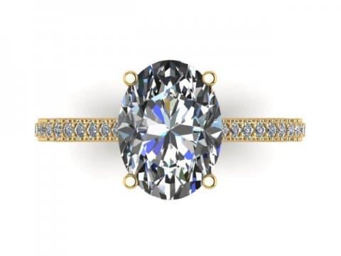 2 Carat Oval Engagement Ring - Custom Oval Engagement Rings Dallas - Shira Diamonds Dallas 2