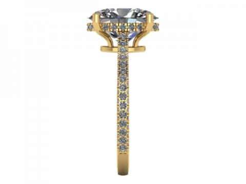 2 Carat Oval Engagement Ring - Custom Oval Engagement Rings Dallas - Shira Diamonds Dallas 3