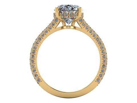 2 Carat Oval Engagement Ring - Custom Oval Engagement Rings Dallas - Shira Diamonds Dallas 4