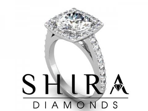 2 Carat Round Halo Diamond Engagaement Ring Shira Diamonds 1 2, Shira Diamonds