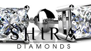 4_Prong_Princess_Cut_Diamond_Stud_Earrings_at_Shira_Diamonds_in_Dallas_Texas