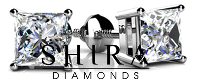 4_Prong_Princess_Cut_Diamond_Stud_Earrings_at_Shira_Diamonds_in_Dallas_Texas