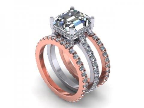 Asscher Diamond Ring Dallas 1