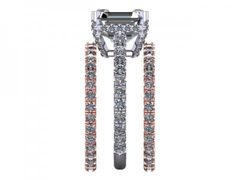 Asscher Diamond Ring Dallas 2