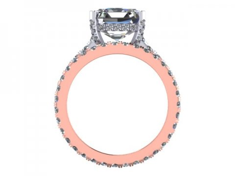 Asscher Diamond Ring Dallas 3