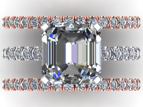 Asscher Diamond Ring Dallas 4