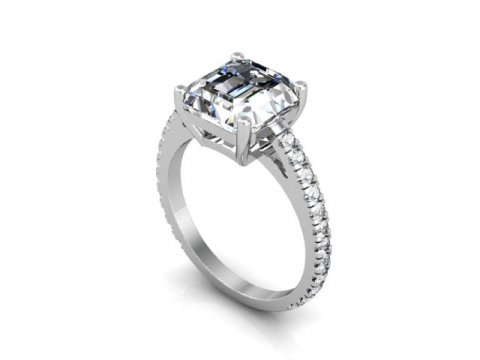 Asscher Diamond Rings 1 1 1, Shira Diamonds