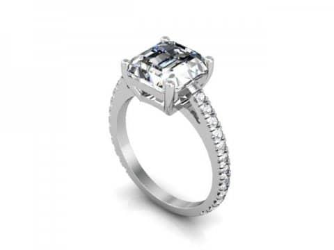 Asscher Diamond Rings 1 1 1, Shira Diamonds