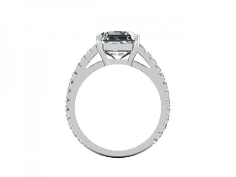 Asscher Diamond Rings 3 2, Shira Diamonds