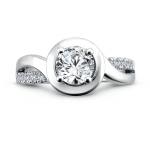 Bezel Diamond Rings 1, Shira Diamonds