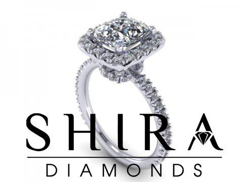 Cushion Halo Diamond Engagement Ring - Lifted Halo - Custom Cushion Halo Ring - Dallas Texas - Shira Diamonds 1 (1)