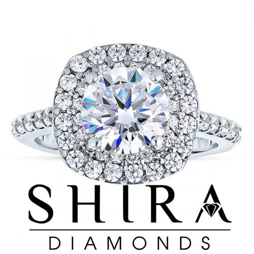Cushion Halo Diamond Rings In Dallas Texas Shira Diamonds 1 6, Shira Diamonds