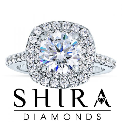Cushion Halo Diamond Rings in Dallas Texas - Shira Diamonds