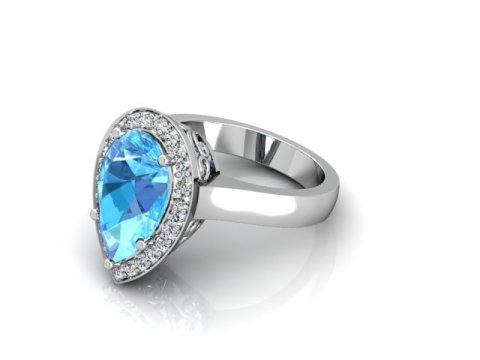 Custom Aquamarine Engagement Rings Dallas 1
