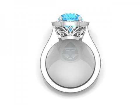 Custom Aquamarine Engagement Rings Dallas 3