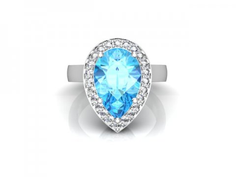 Custom Aquamarine Engagement Rings Dallas 4