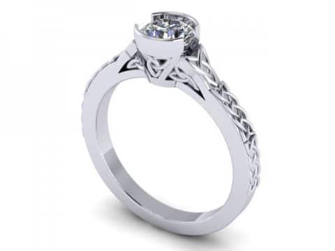 Custom Bezel Diamond Engagement Ring in Dallas Texas - Shira Diamonds 1