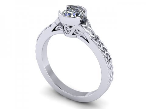 Custom Bezel Diamond Engagement Ring In Dallas Texas Shira Diamonds 1, Shira Diamonds
