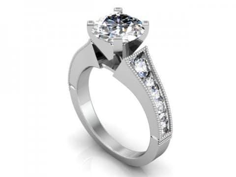 Custom Channel Diamond Rings Dallas 1