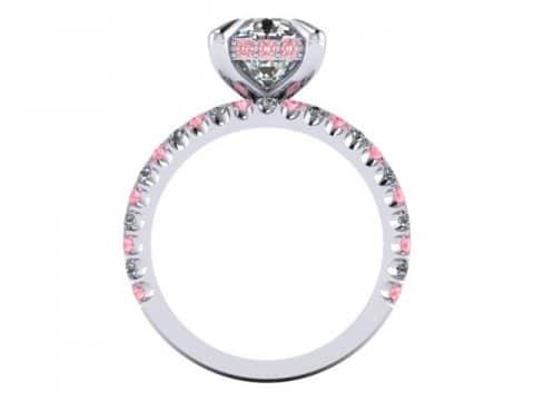 Custom Cushion Diamond Engagement Ring Pink Diamonds Wholesale Diamonds Dallas 1 1, Shira Diamonds