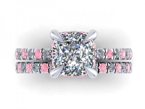 Custom Cushion Diamond Engagement Ring Pink Diamonds Wholesale Diamonds Dallas 2 1, Shira Diamonds