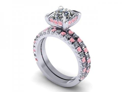 Custom Cushion Diamond Engagement Ring Pink Diamonds Wholesale Diamonds Dallas 3 2, Shira Diamonds