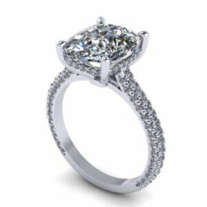 Custom Cushion Diamond Engagement Rings 1