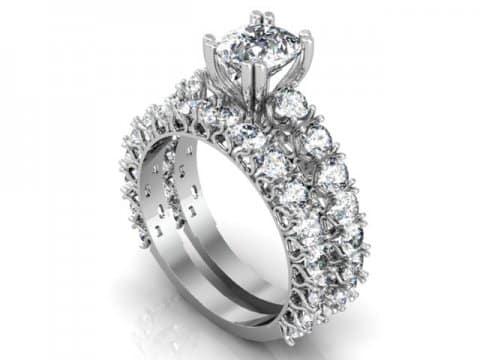 Custom Cushion Engagement Ring in Dallas texas - Custom Engagement Rings Dallas 1