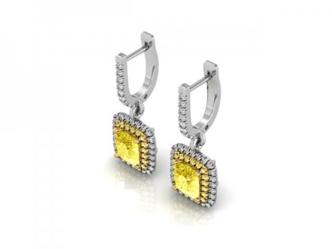 Custom Diamond Earrings Dallas 1
