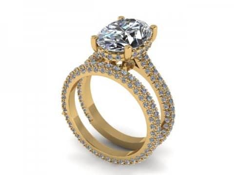 Custom Diamond Engagement Ring 1