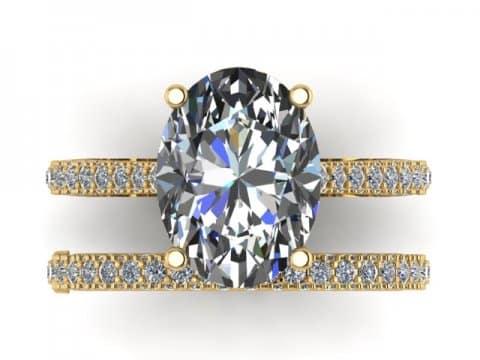 Custom Diamond Engagement Ring 2