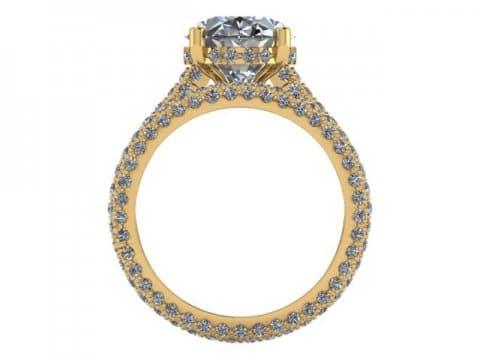 Custom Diamond Engagement Ring 4