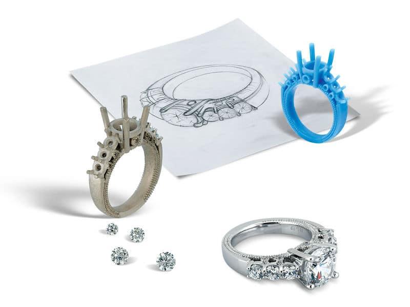 Custom Diamond Engagement Rings Dallas Texas