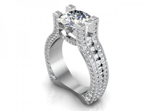 Custom Diamond Engagement Rings In Grapevine Grapevine Engagement Ring 1, Shira Diamonds
