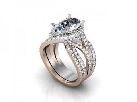 Custom Diamond Ring 1 1, Shira Diamonds