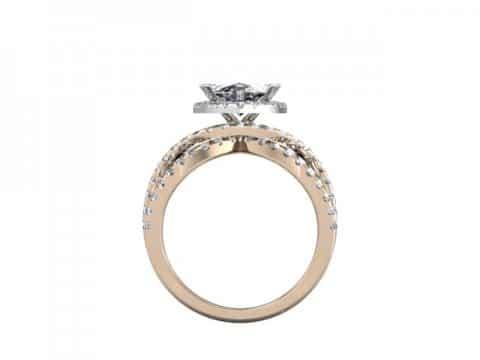 Custom Diamond Ring 3 1, Shira Diamonds