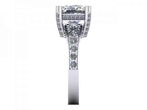 Custom Diamond Ring Cushion Diamond Ring 2 1, Shira Diamonds