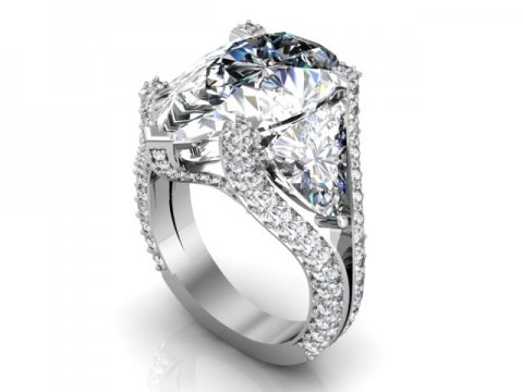 Custom Diamond Ring Dallas Pear 1 1, Shira Diamonds