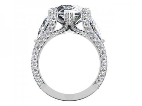 Custom Diamond Ring Dallas Pear 2 1, Shira Diamonds