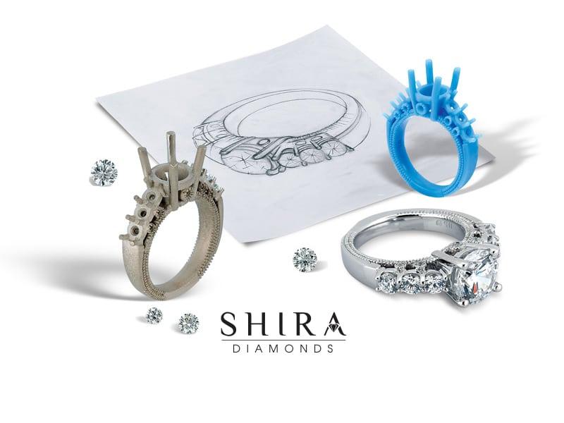 Custom Diamond Ring Process Shira Diamonds Dallas 5 1, Shira Diamonds