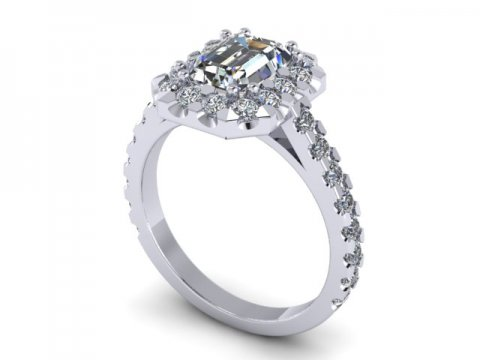 Custom Emerald Cut Diamond Engagement Ring In Dallas Texas Wholesale Diamonds And Custom Diamond Jewelry 1, Shira Diamonds
