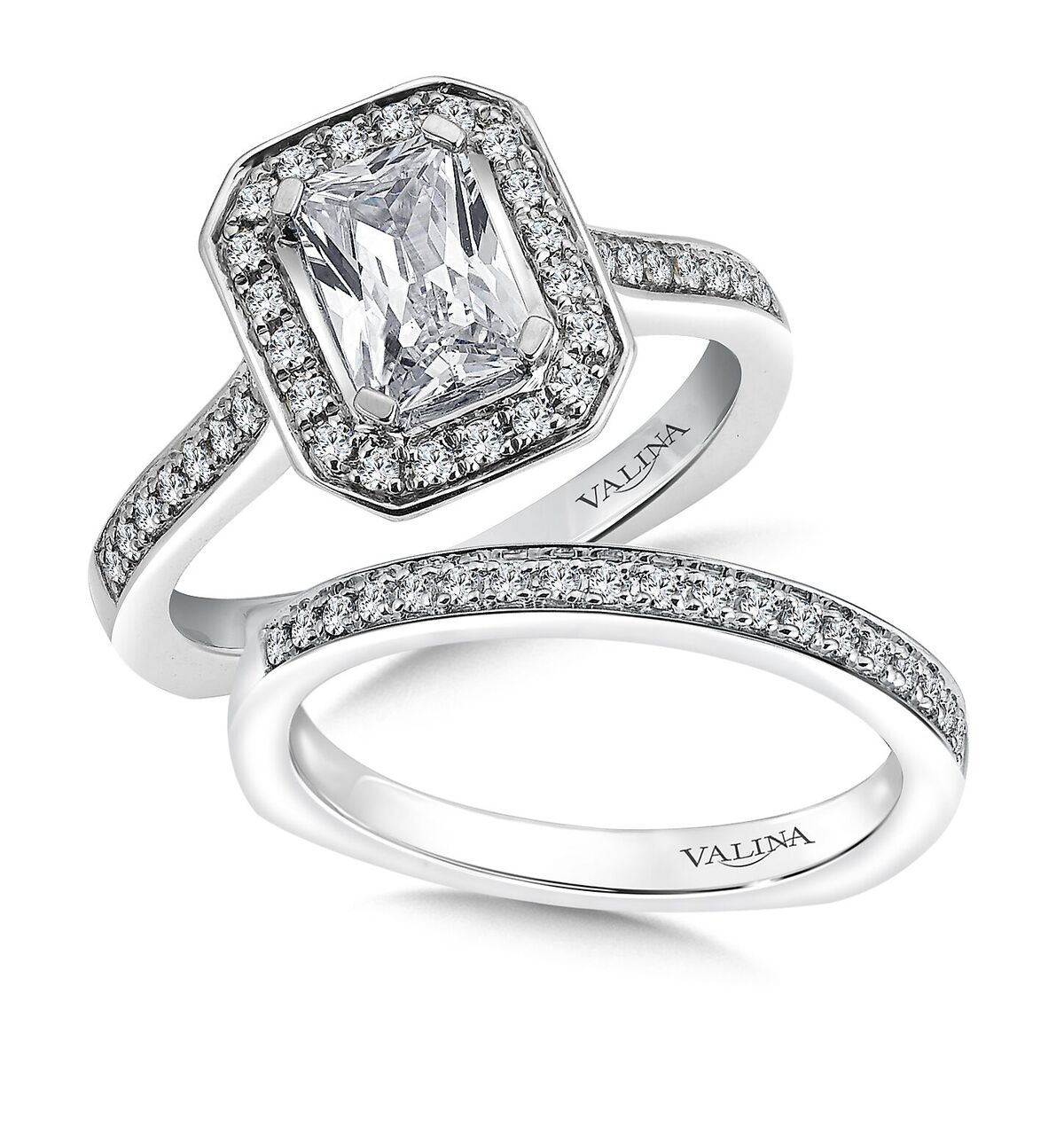 Custom Emerald Cut Engagement Ring in Dallas texas - Wholesale Engagement Rings
